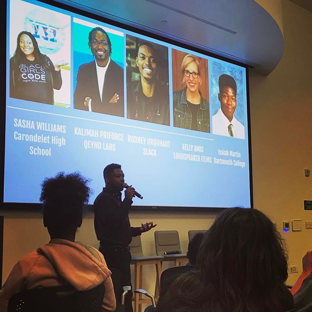 Such a great event tonight screening #CodeOakland @kaporcenter with film star @qeynolabs founder @priforce & so many inspiring teachers, students, leaders, techies & parents. Exactly what our films are meant for. Thank you Kennan Scott for organizing, you're amazing! @sokanomx_jsf