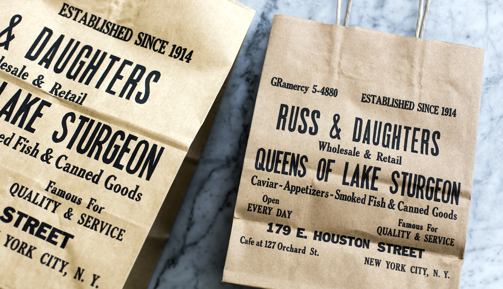 Russ & Daughters shopping bags