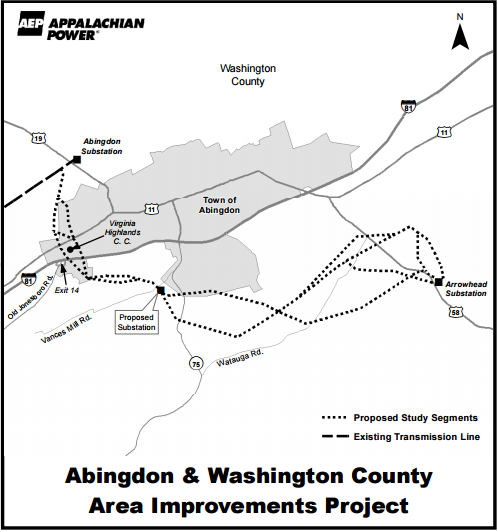 Proposed plan for transmission line by AEP Source: www.aeptransmission.com
