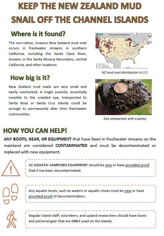 - New Zealand Mud Snail Prevention Protocol (2017)