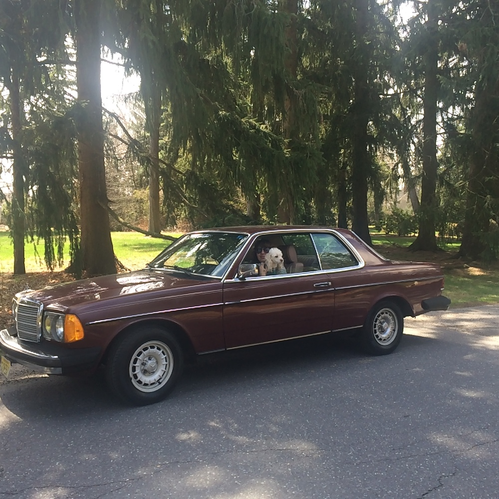 The 1984 burgundy Mercedes Nora bought for Karen.