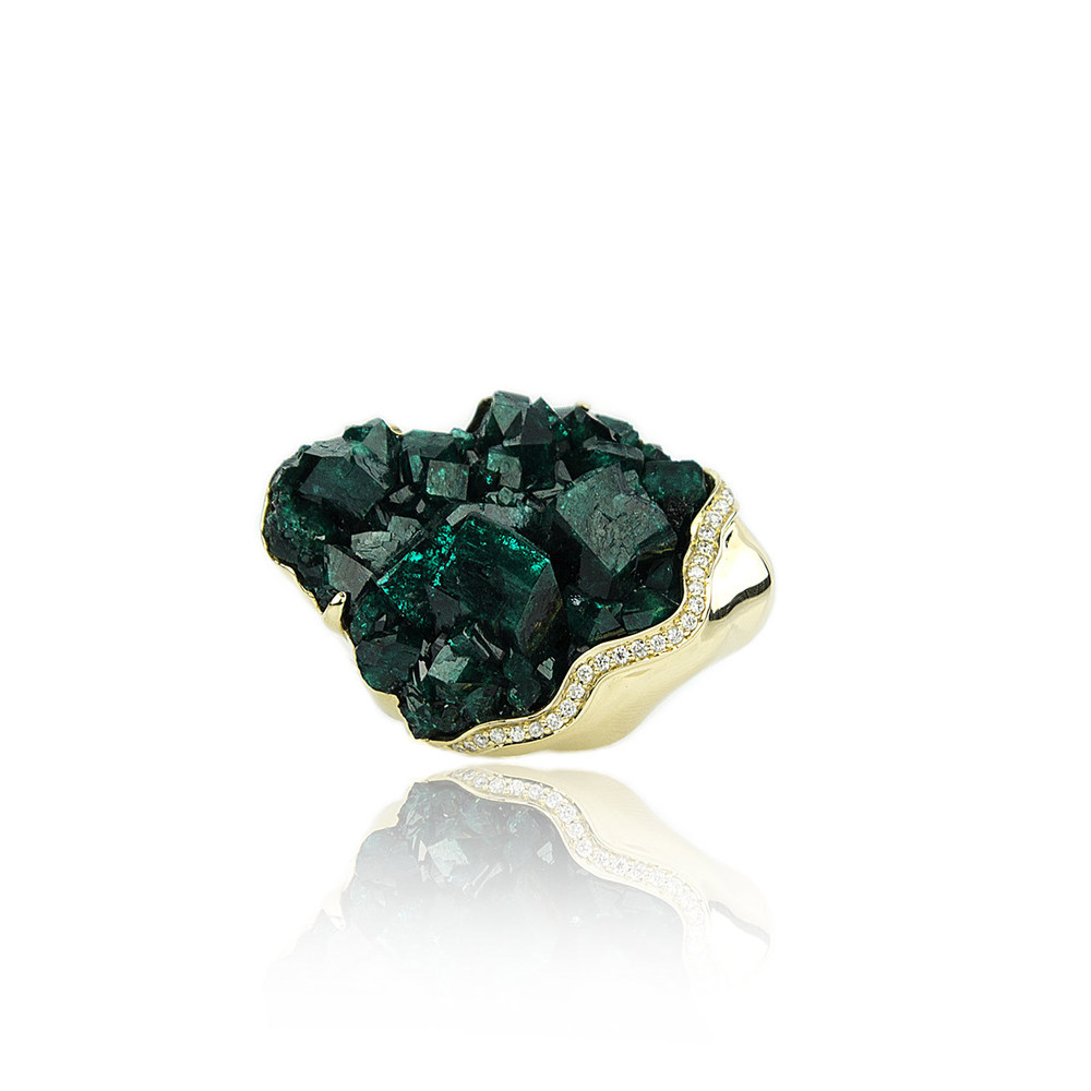 Petra ring In raw Chrome Diopside , $9,995.