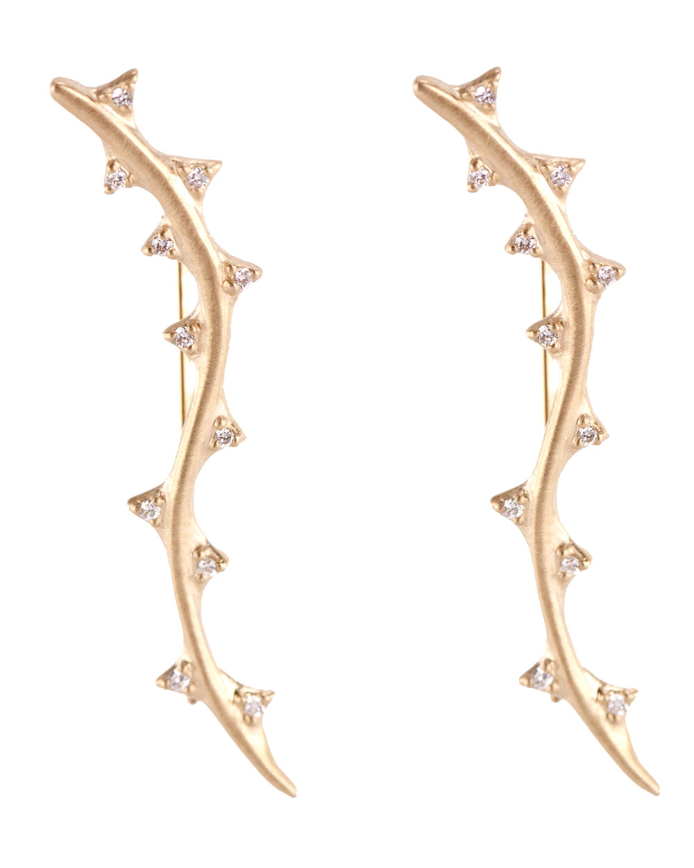 Thorn Vine earrings in diamonds and 14k gold, $2,190, available at  Stanley Korshak .