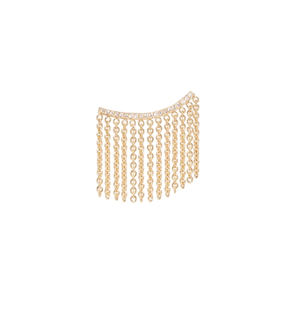 Zoe Chicco 14karat gold and white diamond pave Mohawk Ear Shield, $925, available at Stone & Strand.
