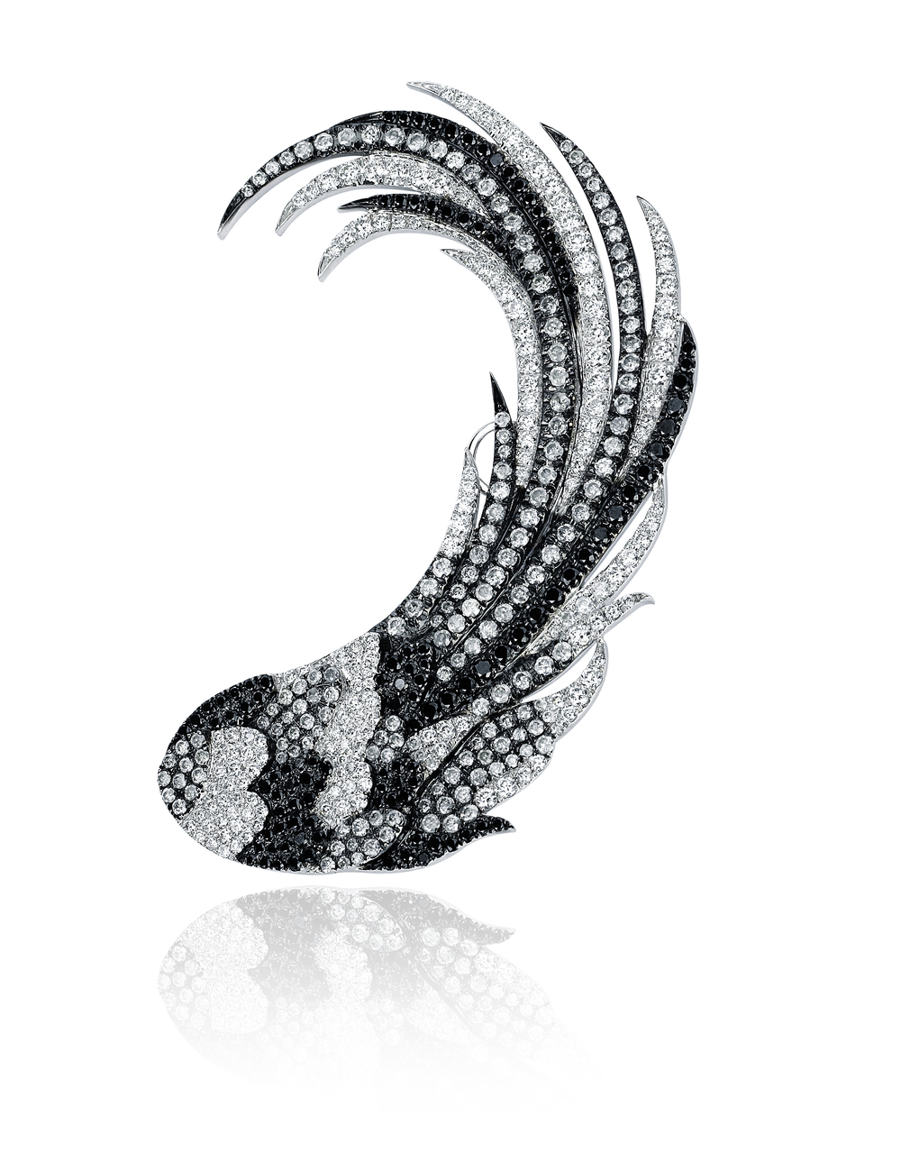 Colette ear cuff in white and black diamonds, price upon request, available at Colette Jewelry.