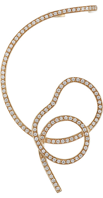 Sophie Bille Brahe Ligne Perve ear cuff in 18k gold and diamonds, $6,850, available at Barneys New York.