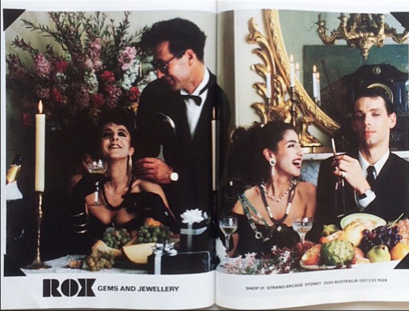 Blast from the past – Vogue Australia ad for Ray's old store Rox Gems and Jewellery.