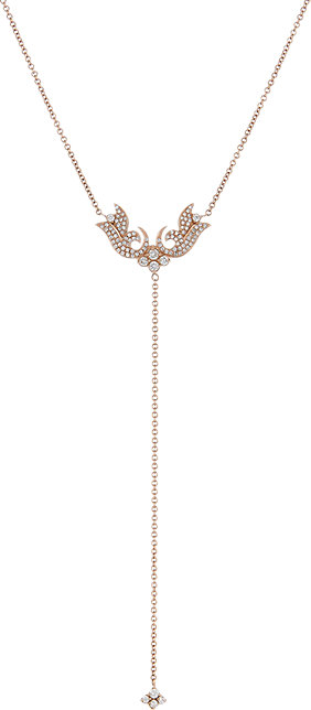 Sara Weinstock French Tulip lariat in rose gold and diamonds,$5,140,  available at Barneys New York .