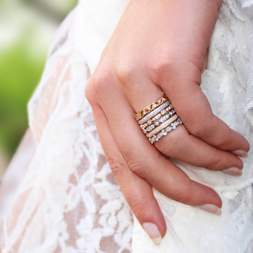 Shop eternity bands at Dana Rebecca .