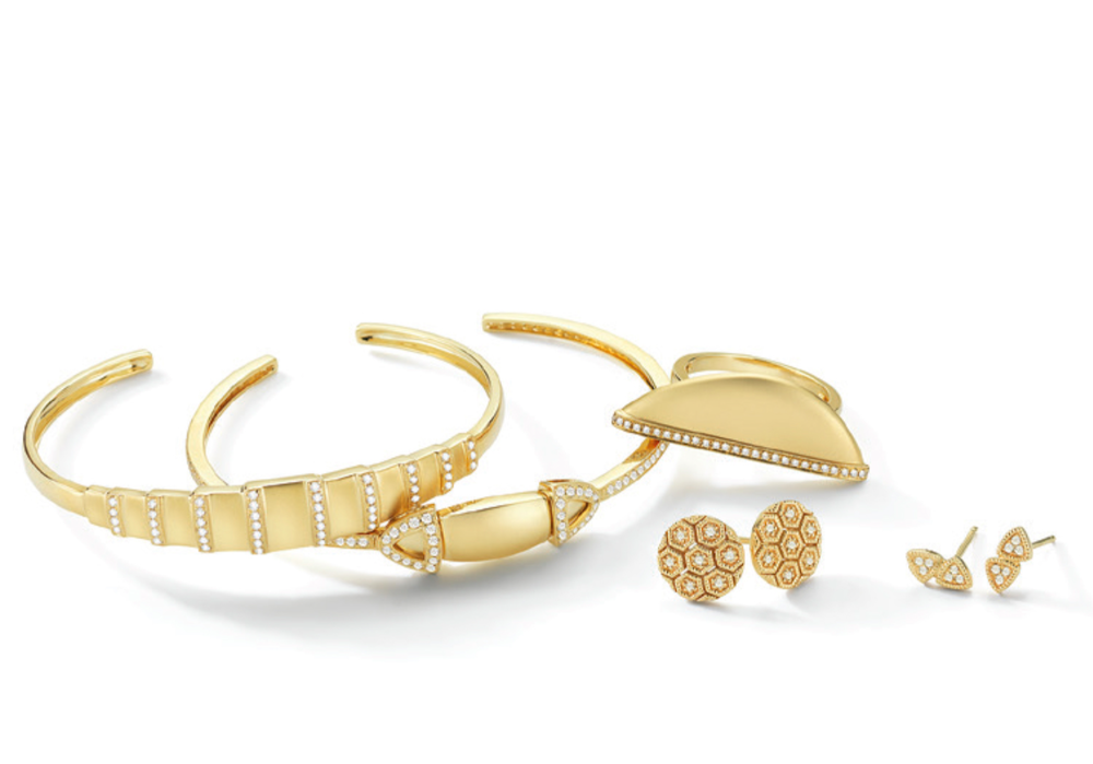 The Sandblasted gold collection just debuted at Couture 2015 and will be online soon!