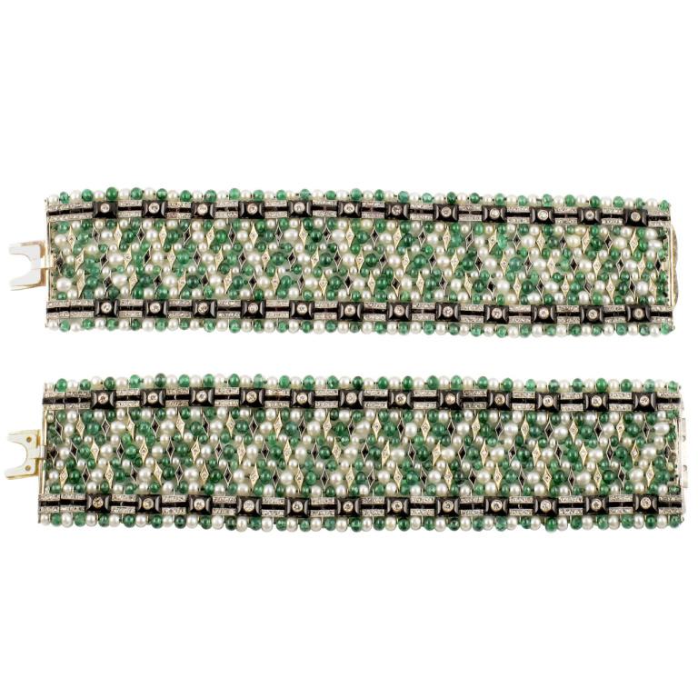 Art Deco Twin bracelets