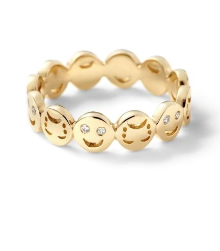 "Alison Lou ""Happy or Sad?"" ring, $1,490,  available at Stone & Strand ."
