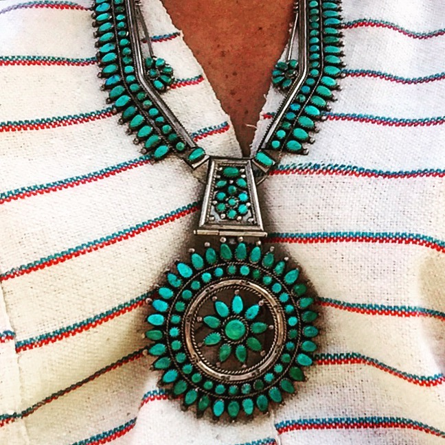 You just knew we had to get this vintage turquoise necklace for a client. We so wish it was us.