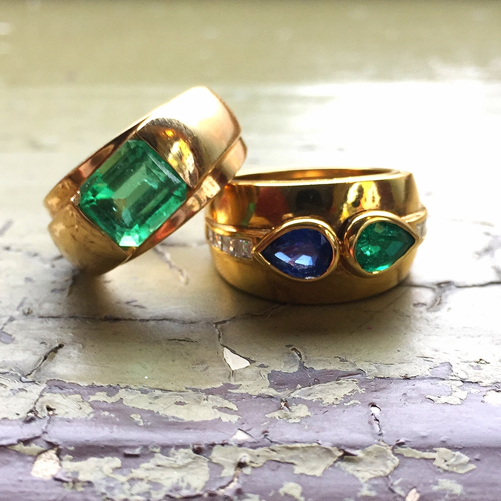 One more time, for the cheap seats in the back, a favorite new stack. By the way, the sapphire and emerald homie hasa fraternal twin in ruby/sapphire...