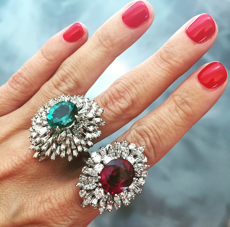 A tale of two tourmalines: On the left, indicolite, on the right, rubellite. Either way you slice it: YES.