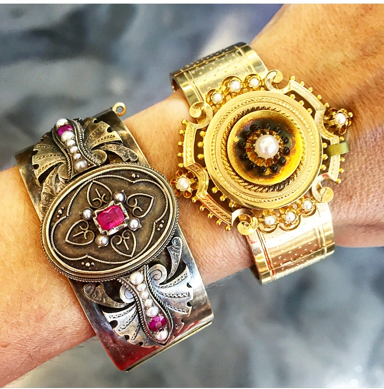 Come for the conversation, stay for the sexy Victorian bangles.