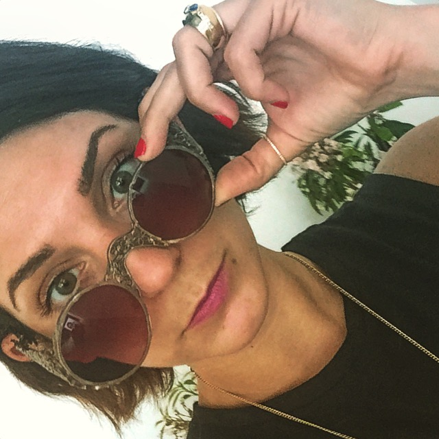 The incomparable Judy Geib is featured in store as a designer of very unique objets d'art. Think, handmade metal sunnies.
