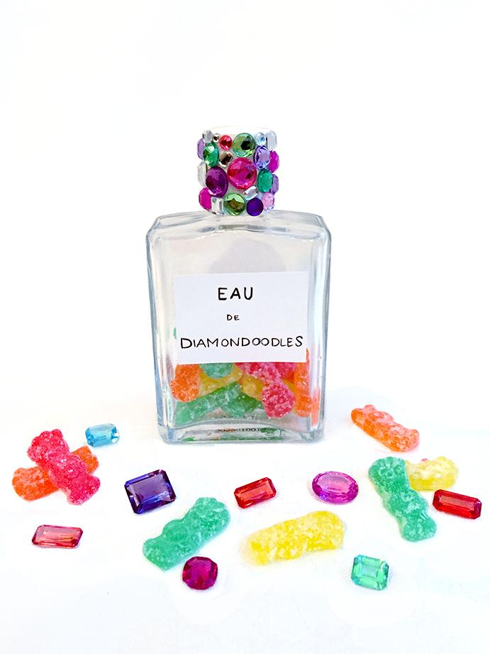 """""""Eau de Diamondoodles"""" – Hannah's signature scent."""