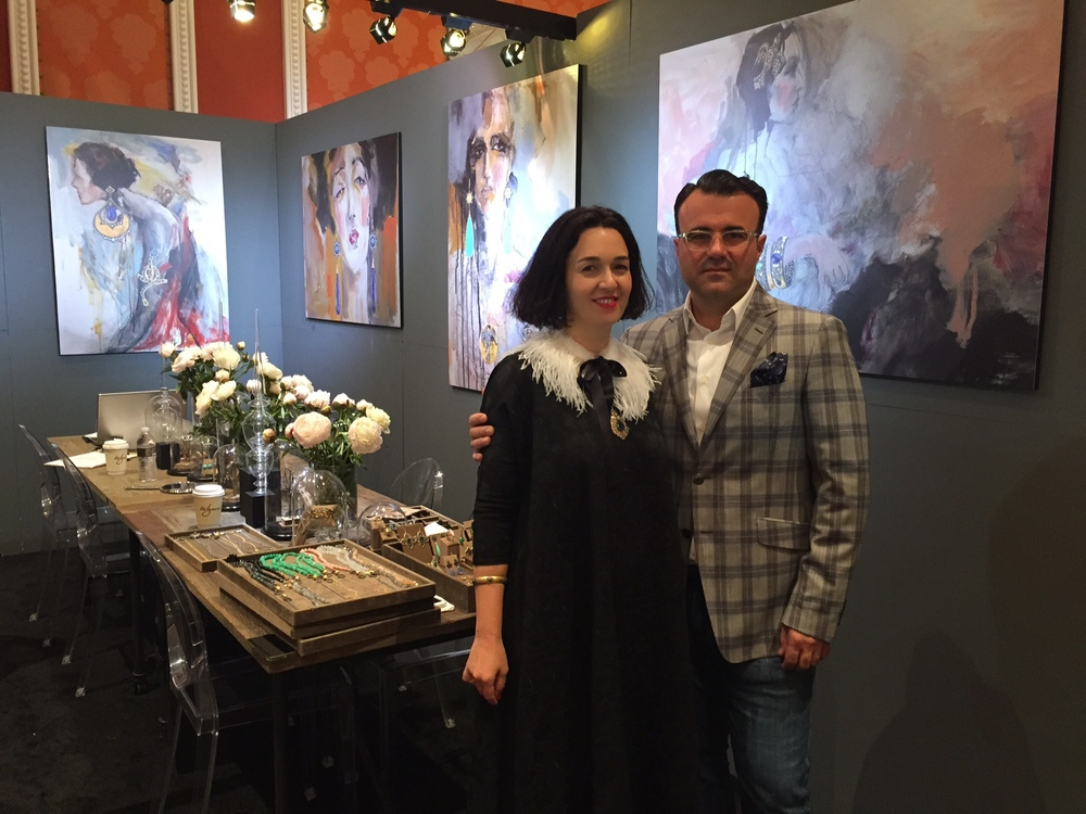 Arman and his lovely wife, fashion designer and painter, Louiza Babouryan.