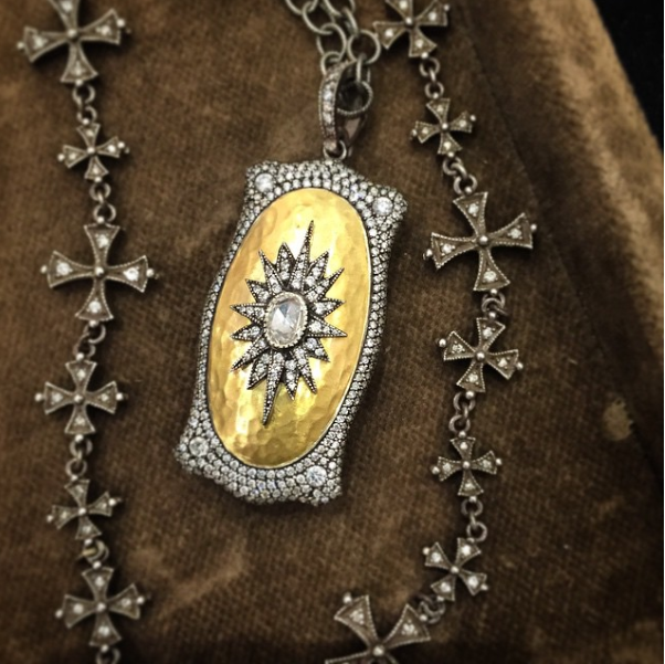 Take a look at the handcrafted chain on this locket. YES. Available at  Robertson's Fine Jewelry , Little Rock, AR.