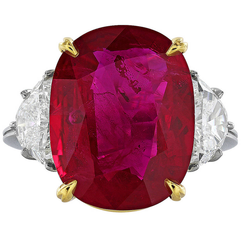 A 10.24 ct ruby and diamond ring by Shreve, Crump & Low. We dare you not to like it.