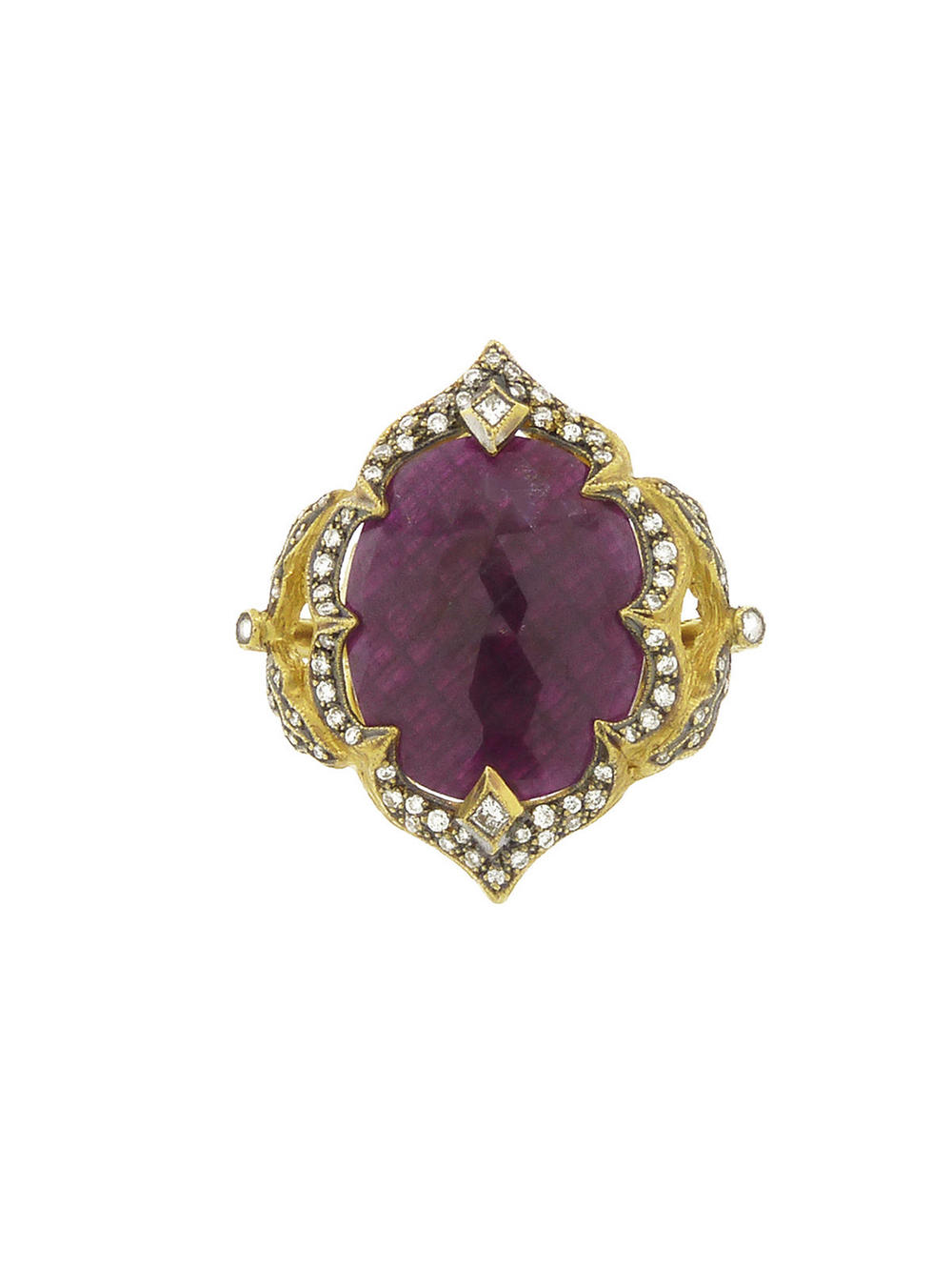 Cathy Waterman  22k gold rose-cut Ruby Arabesque ring, $17,760, available at  ylang23.com .