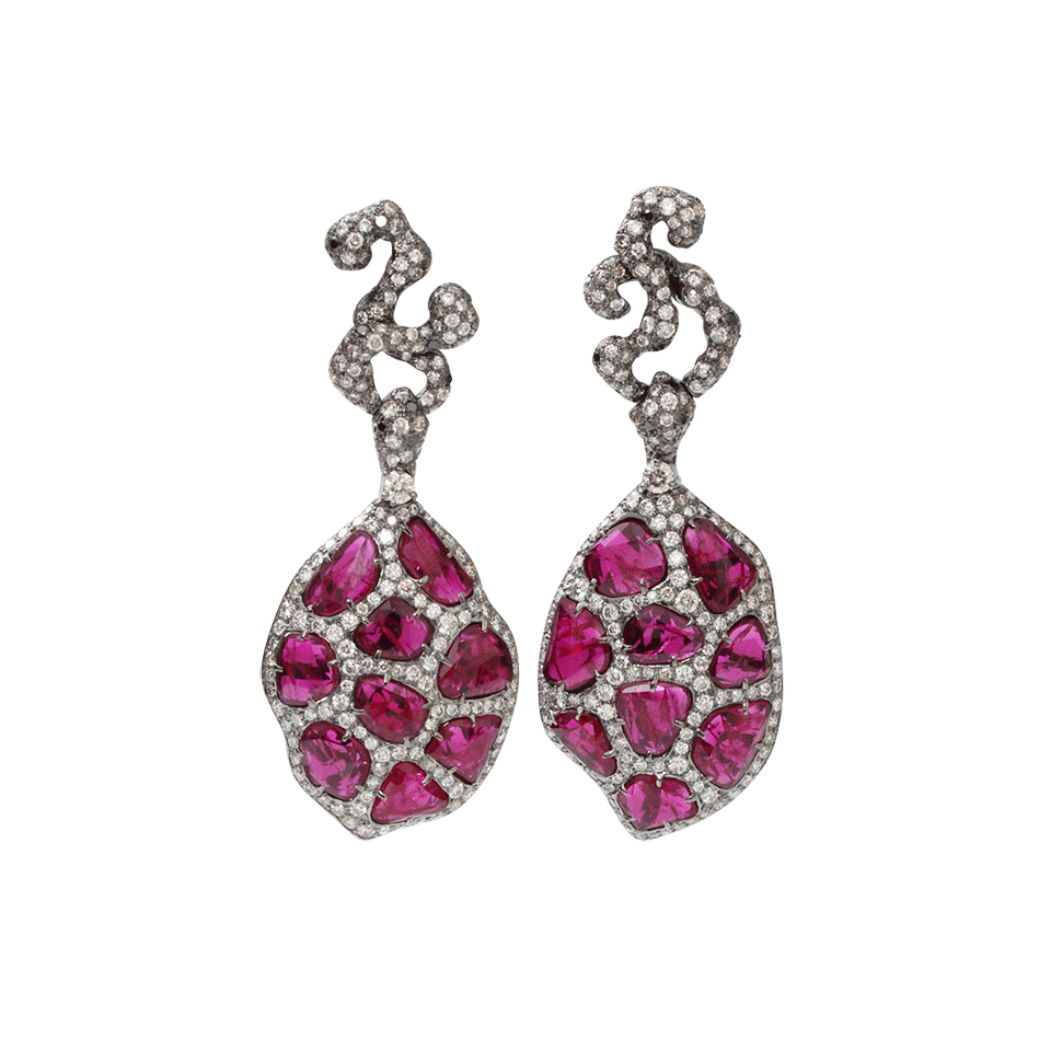 Arunashi ruby and diamond earrings, $36,500,  available at Marissa Collections .