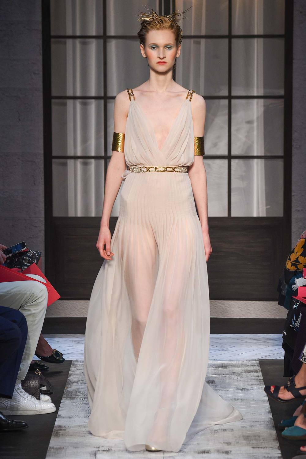 Some Greek Goddess shit right here from  Schiaparelli . Double gold arm bands FTW.