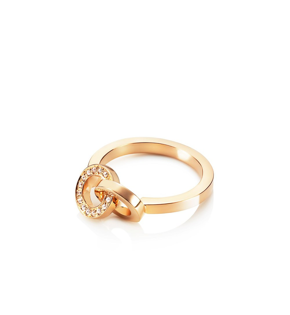 You & Me ring in 18k gold and diamonds, $1,710,  available at Efva Attling .