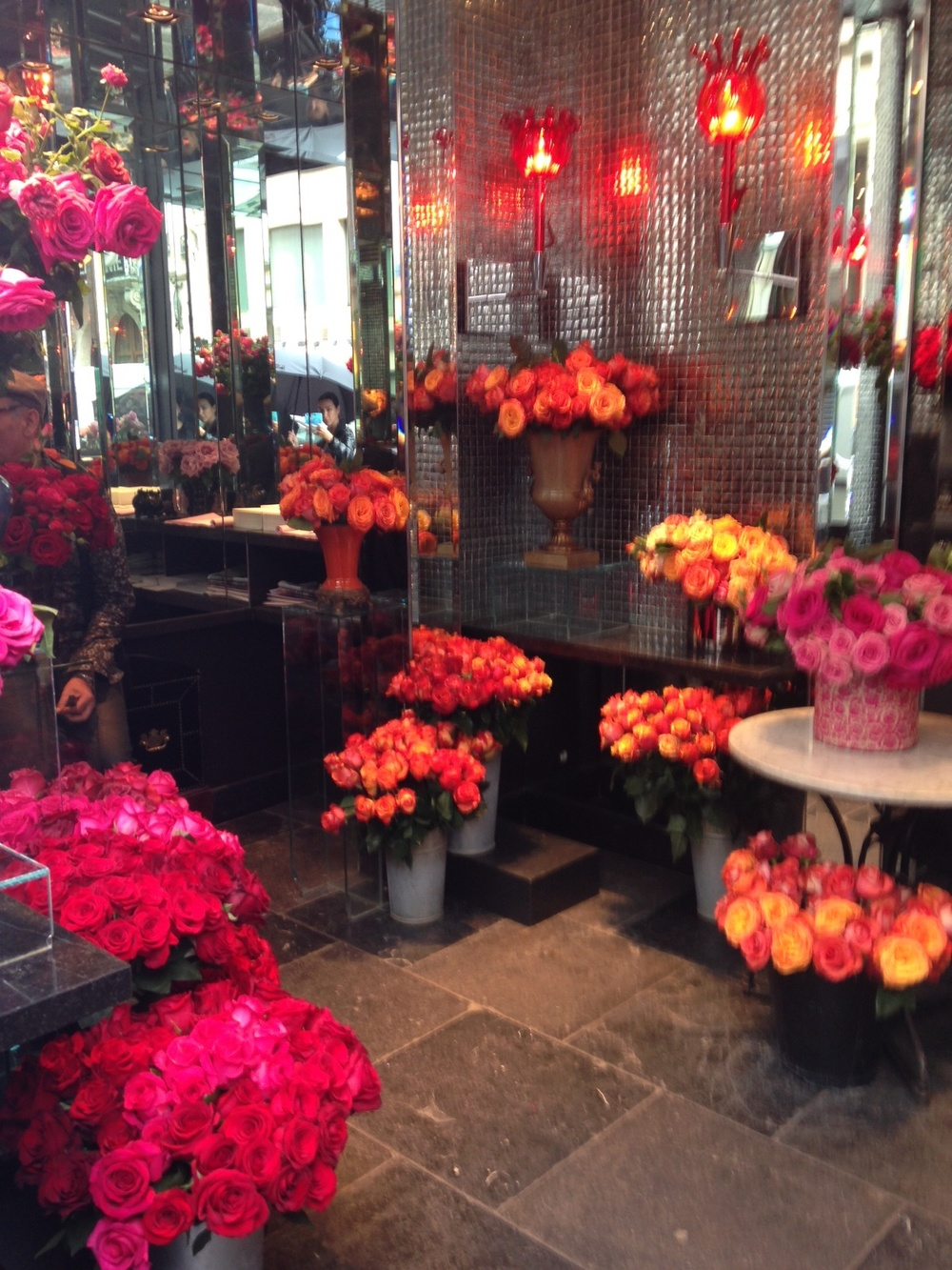 The roses at Hotel Costes.