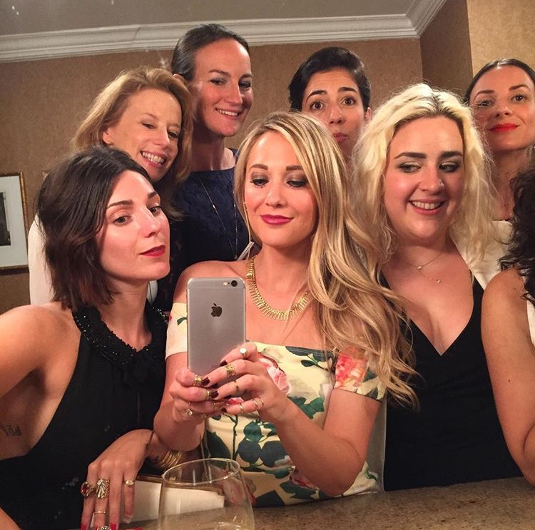 Gotta have some bathroom selfie action, especially with the ladies of Monica Rich Kosann, Jewelry Information Center, Gem Gossip, Jane Taylor Jewelry andDiamondoodles.