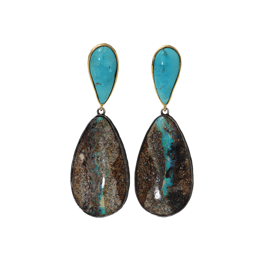 K Brunini opal and turquoise earrings in 18k gold, $5,498,  available at Marissa Collections .