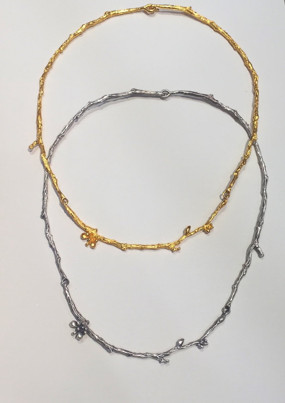 Branchy neck goodness by Ruta Reifen of Brooklyn. Yellow and white gold vermeil.