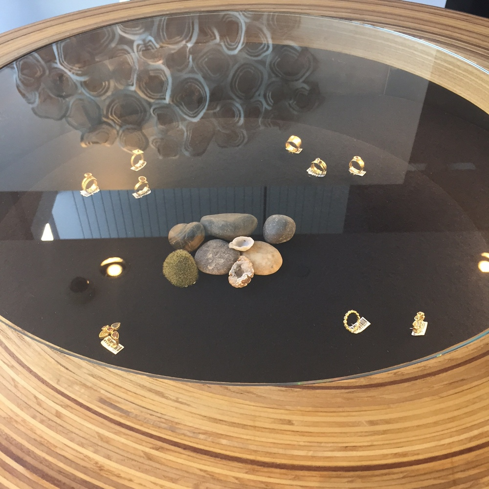 Inside a ring case, which is also a Lazy Susan, because duh.