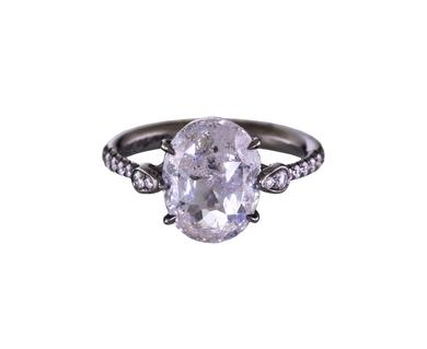 Eden Oval Raw 4.5 ct Diamond Solitaire available at  twistonline.com