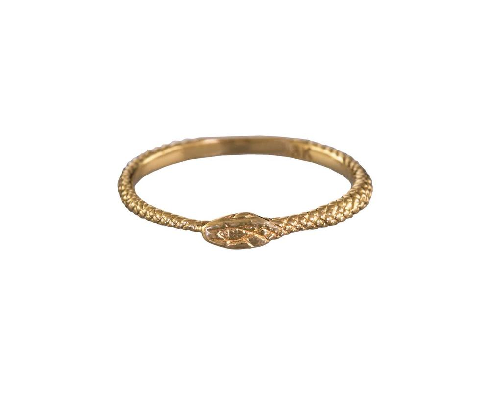 Endless Love Snake Ring in 18K yellow gold available at  twistonline.com