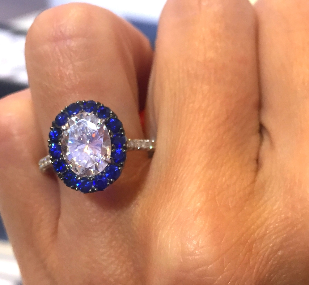 The most vibrant natural blue sapphire melee we had seen in, well, ever.