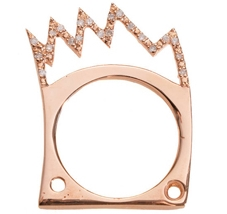 The Basquiat crown ring by CLP in 18K rose gold and diamonds. Available at Reinhold Jewelers in San Juan, PR.