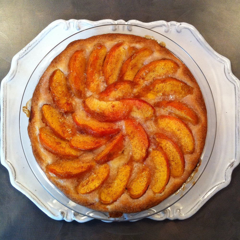 The top secret peach cake. Gimme.