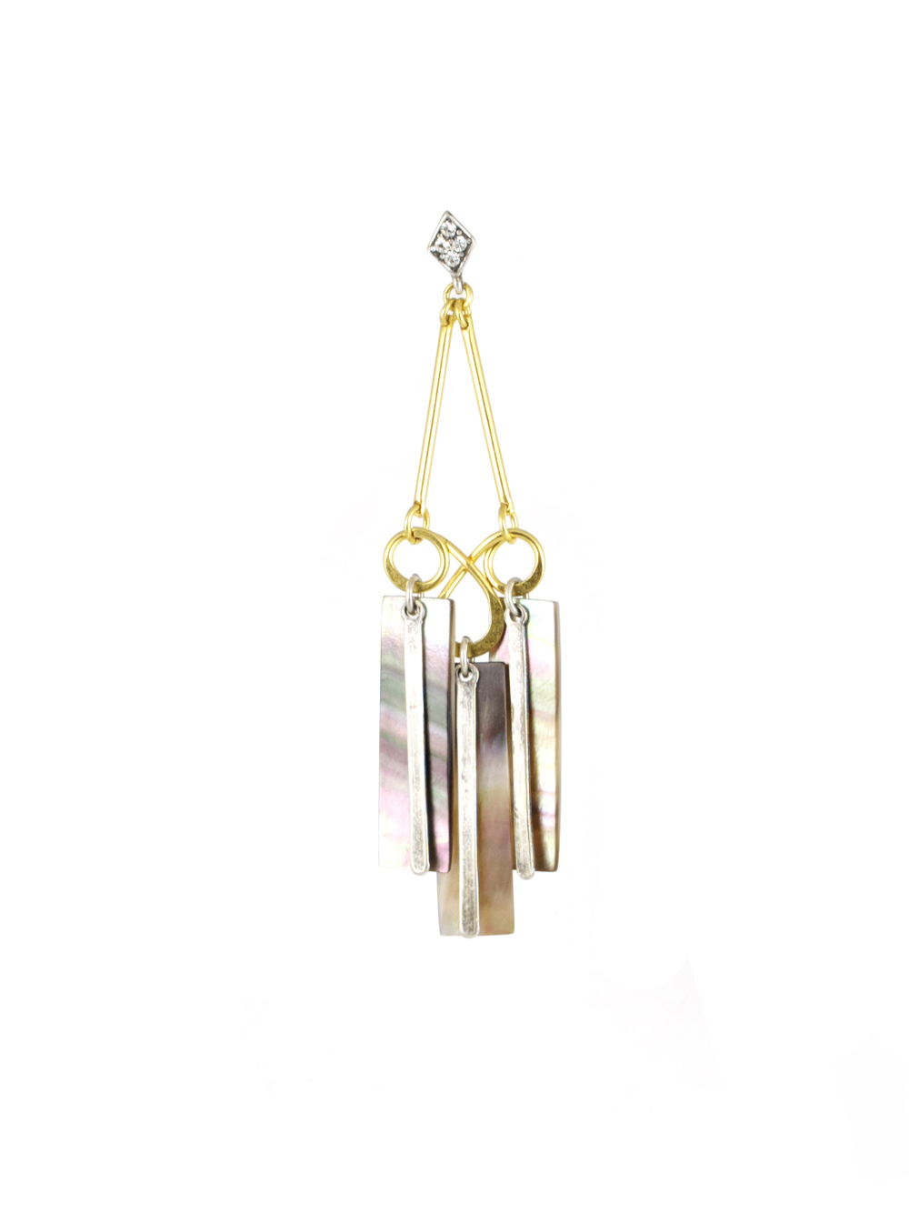 Rainbow Shower chandelier earring,  available at Gerard Yosca .