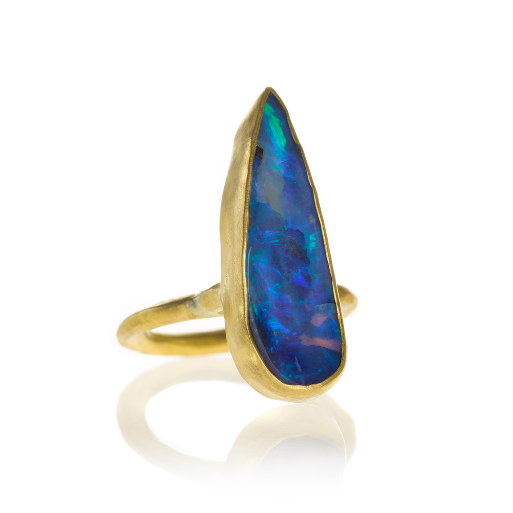 Ring in 22k gold with boulder opal, $3,740.