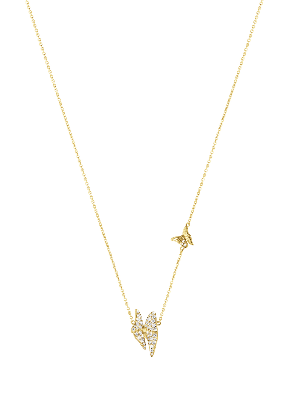 The Askill Collection for Georg Jensen  Butterfly necklace in 18K gold and diamonds.