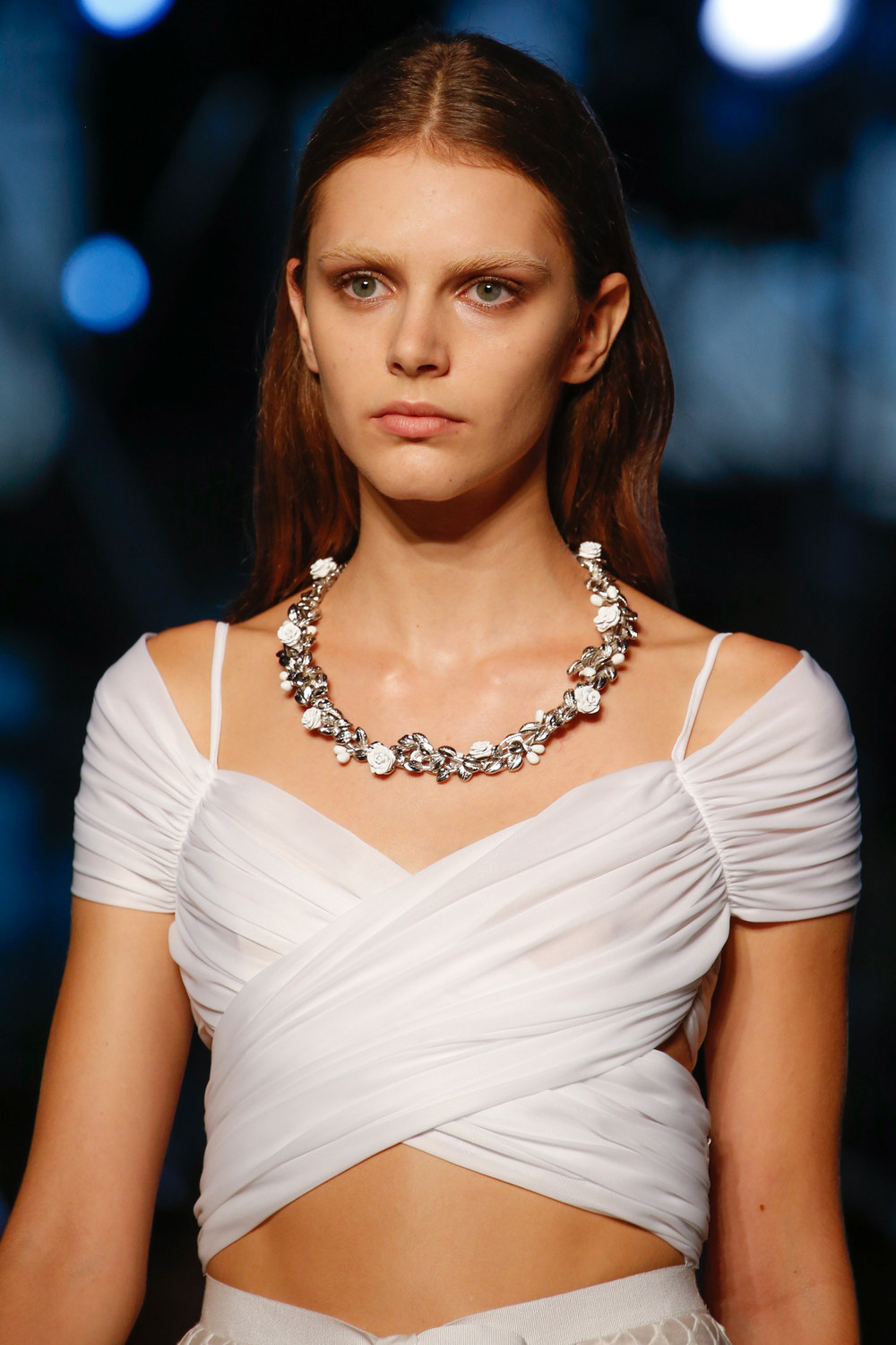 See, Givenchy also does subtle! We like how open this necklace is and where it lays on the body.