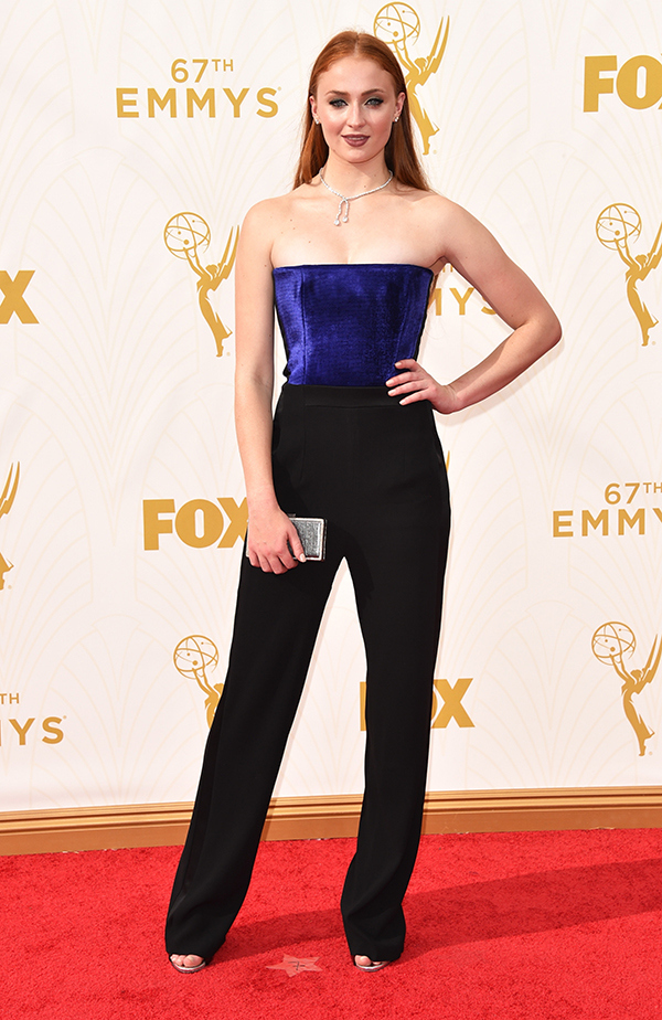 Sophie Turner in a clutch diamond lariat. We'd wear it with a T-Shirt.