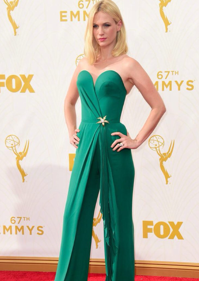 Uh huh, Honey. January Jones wearing a Schlumberger for Tiffany masterpiece. BRING BACK THE BROOCH.