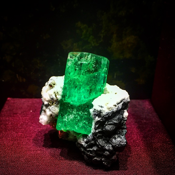 There's nothing in the world a huge Colombian emerald crystal can't cure. Nothing.