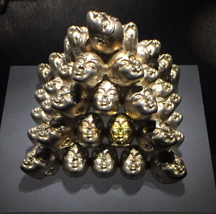Cornelius Hollander  objet d'art in 18k gold and sterling silver. (Pyramid: 2005)