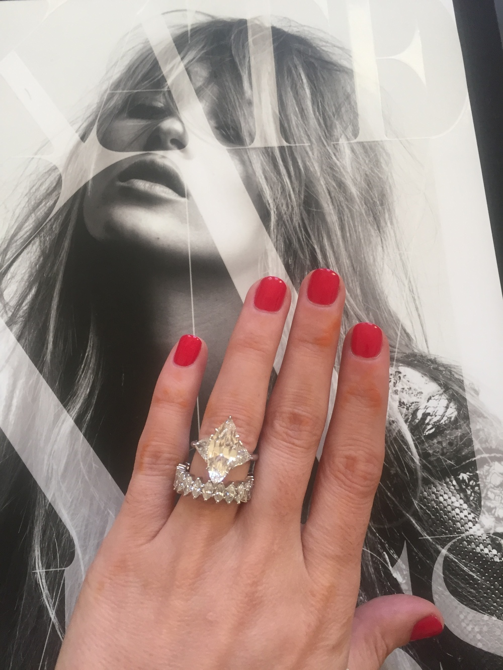 Our love of marquise diamond is not OK. Yes, it is.