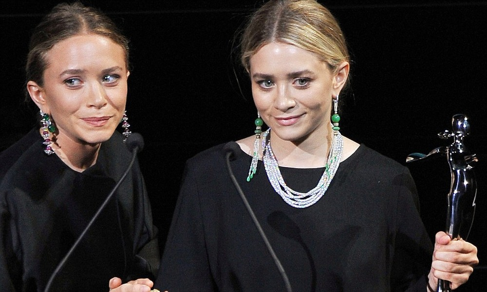 Mary-Kate and Ashley Olsen in Sidney Garber – the brand they most often wear to formal events.