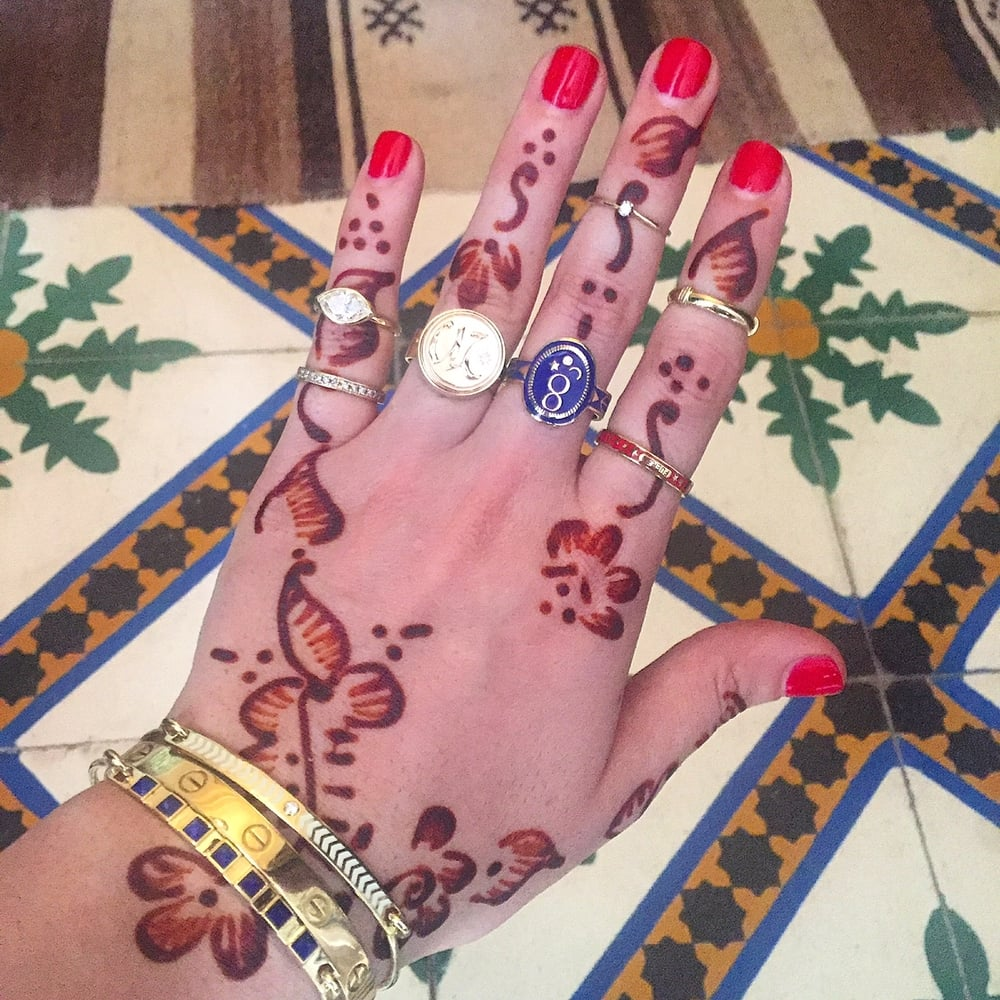 Taking a casual tour of Morocco last fall. Every jewels need a little henna company, no?